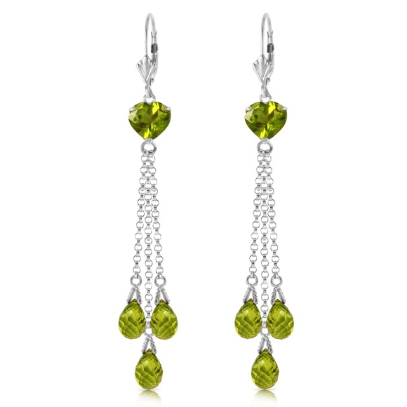 Galaxy Gold Products Jewelry - CHANDELIER EARRING WITH BRIOLETTE PERIDOTS